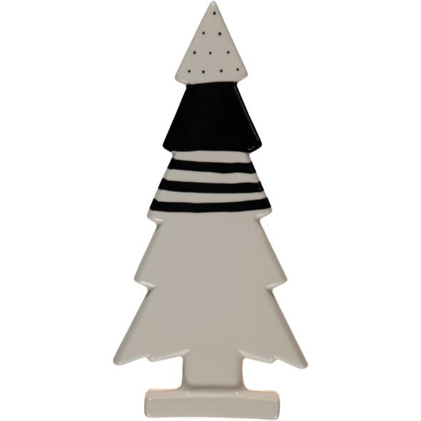 Porzellan Weihnachtsbaum im modernen Look 12x4,75x25,4cm
