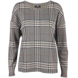 Damen Sweatshirt im Karodessin