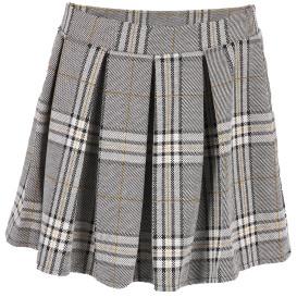 Damen Minifaltenrock im Karolook