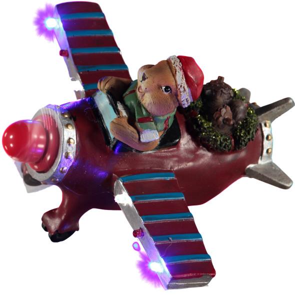 Weihnachtsmaus im Flugzeug, 22,5x19x13,5cm