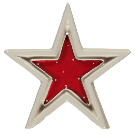 Porzellan Stern, 15cm