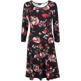 Damen Kleid im Blumenprint allover