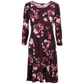 Damen Kleid im Blumenprint und 3/4 Ärmeln