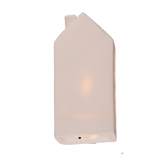Keramik LED Haus 18x8x5,5cm