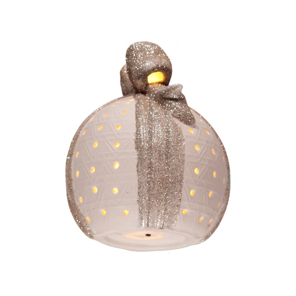 Keramik LED Kugel 16x13cm