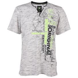 Herren Shirt mit Schriftzug und Knopfleiste