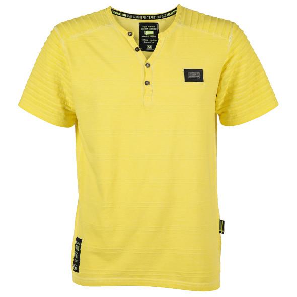 online store 0a464 38082 Herren T-Shirt mit Knopfleiste