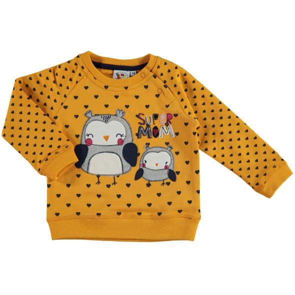Baby Mädchen Sweatshirt mit Eulenapplikation