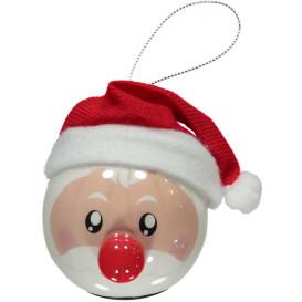 LED Christbaumkugel, Santa 6,5cm hoch