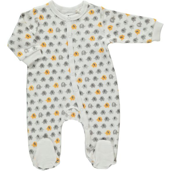 Baby Pyjama im Minimalprint mit Füßchen