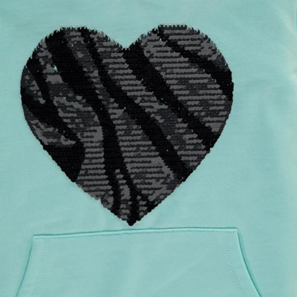 Mädchen Kapuzensweatshirt mit Pailletten
