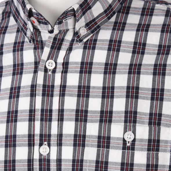Herren Freizeithemd im Karolook mit Brusttasche