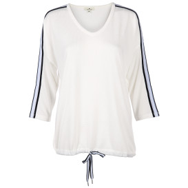 Damen Shirt mit Bindeband am Saum