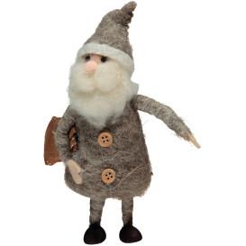 Santa aus Filzwolle, 18cm hoch