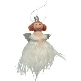 Christkind aus Filzwolle und Kunstfell, 13cm hoch