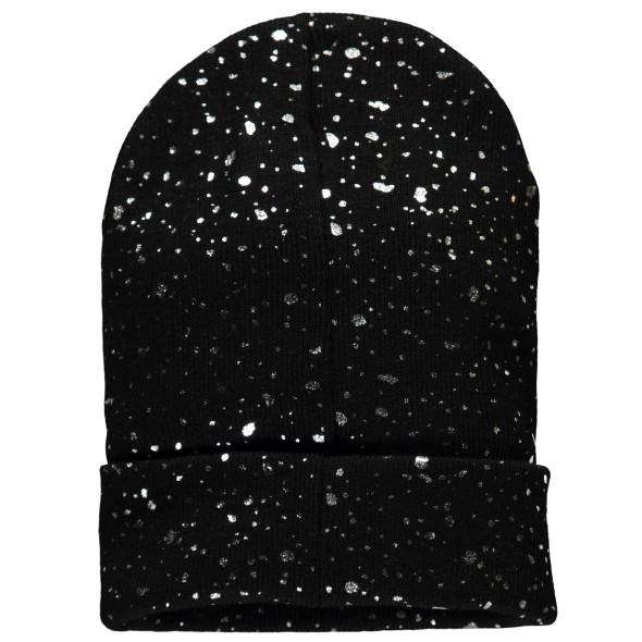 Damen Mütze mit funkelnden Punkten