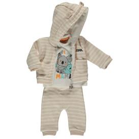 Baby 3er Set, bestehend aus Langarmshirt, Jacke und Hose