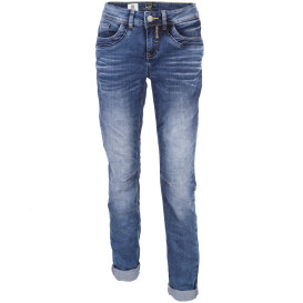 Damen Jeans in Knitteroptik