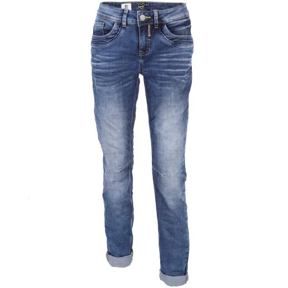 Damen Jeans in Knitteroptik