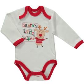 Baby Body mit Weihnachtsmotiv