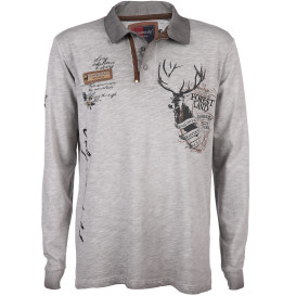 Herren Poloshirt mit vielen Details im Trachtenstyle
