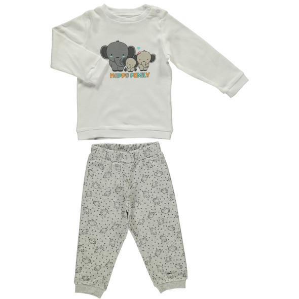 Baby Pyjama Set mit Elefantprint
