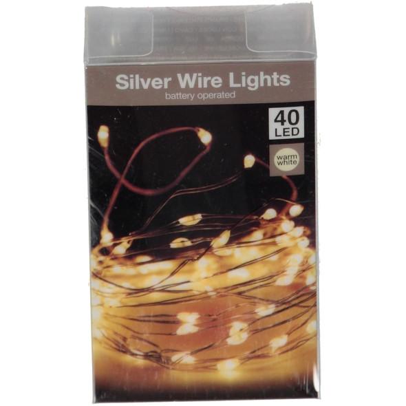 Drahtlichterkette mit 40 LEDs, Länge 2m