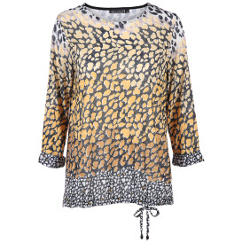 Damen Ausbrennershirt im Animalprint