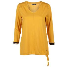 Damen Shirt mit 3/4 Ärmeln und raffiniertem Kragen