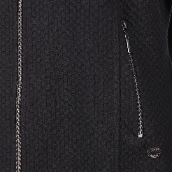 Damen Jaquard Cardigan mit Reißverschluss