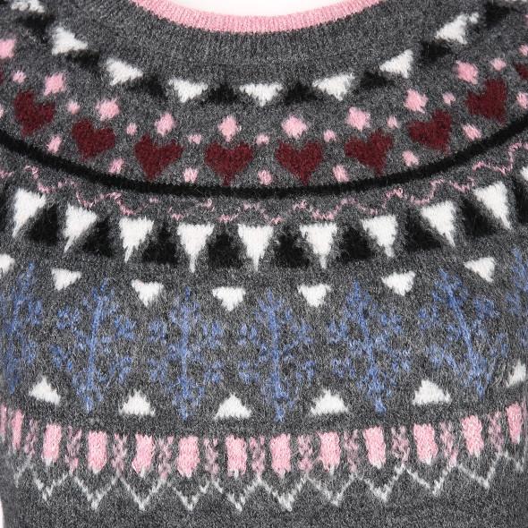 Damen Pullover mit Norweger Muster