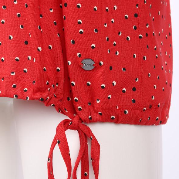 Damen Shirt mit Polka Dots und 3/4 Arm