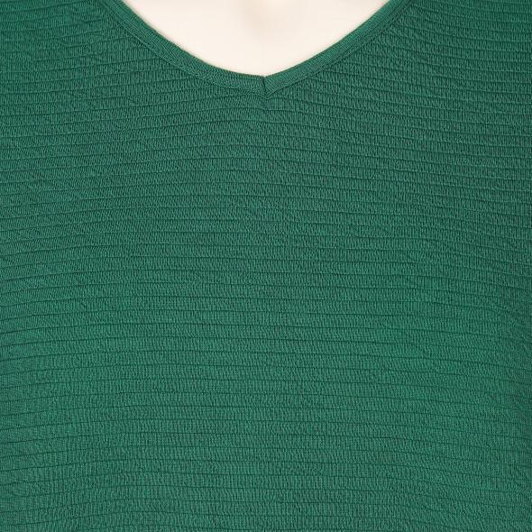 Große Größen Shirt mit Struktur und V-Ausschnitt