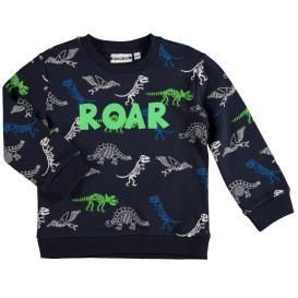 Jungen Sweatshirt mit Alloverprint und Schriftzug