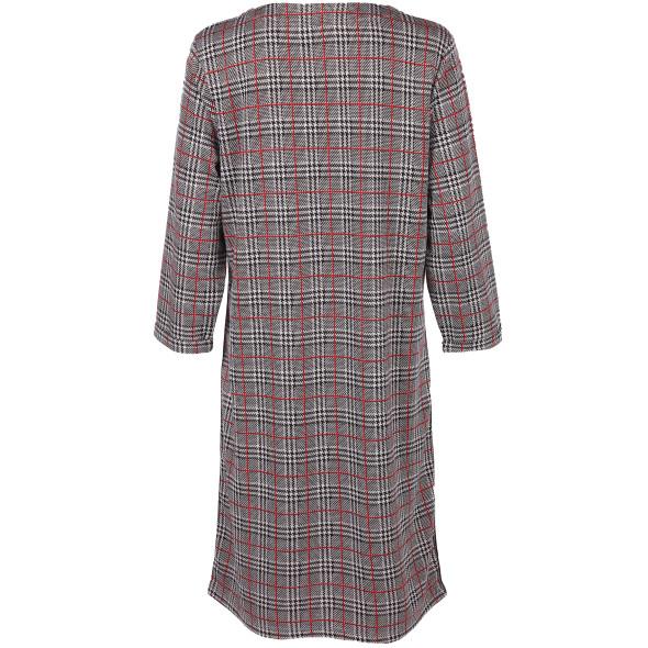 Damen Jersey-Kleid mit Glencheck Muster
