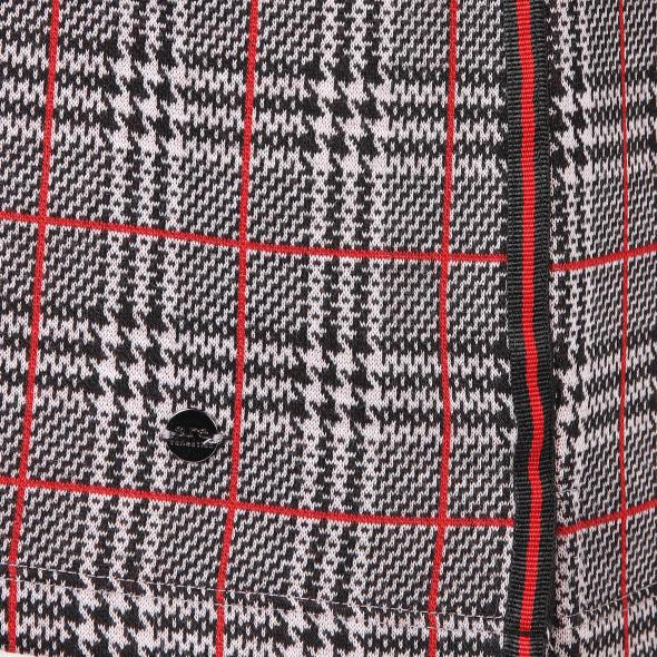 Damen Sweatshirt mit Glencheck Muster