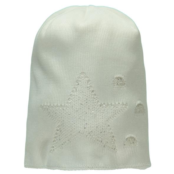 Damen Strickmütze mit Pailletten-Motiv