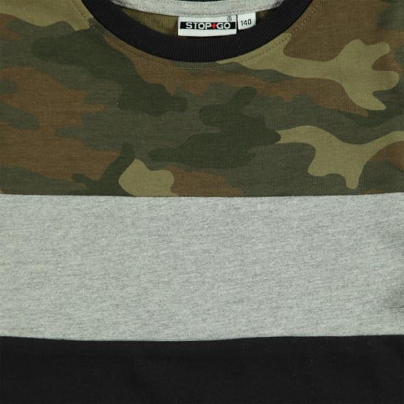 Jungen Sweatshirt mit Camouflage-Einsatz