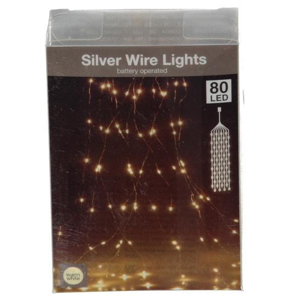 Drahtlichterkette mit 80 LEDs, 3m lang