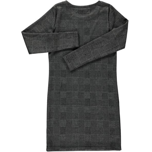 Mädchen Kleid im Glencheckmuster mit Print
