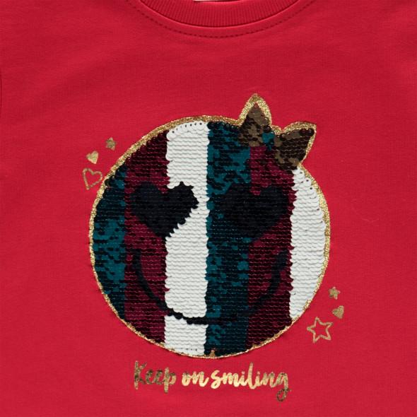 Mädchen Sweatshirt mit Wende- Paillettenmotiv