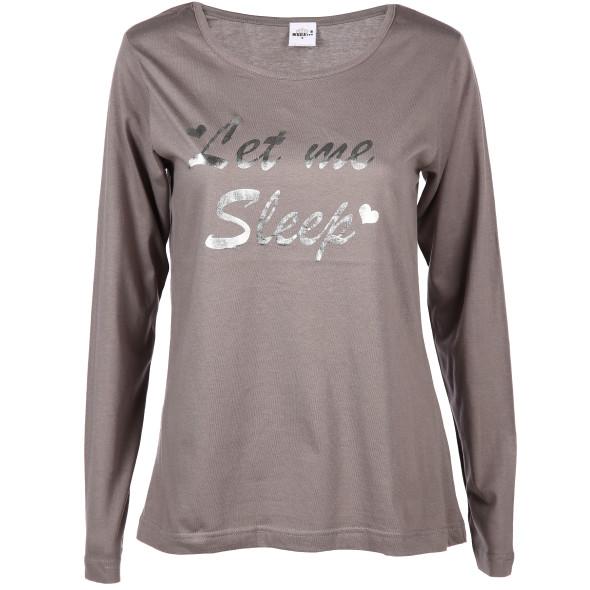 Damen Schlafshirt mit Glitzerprint