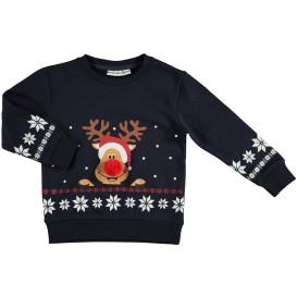 Kinder Weihnachtspullover mit Pompom