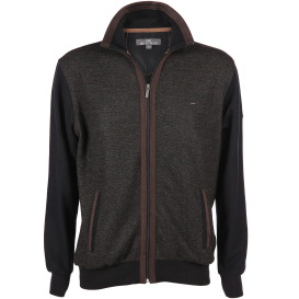 Herren Sweatcardigan mit Stickerei