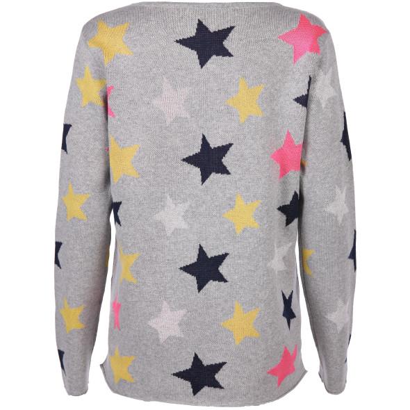 Damen Strickpullover mit Sternen