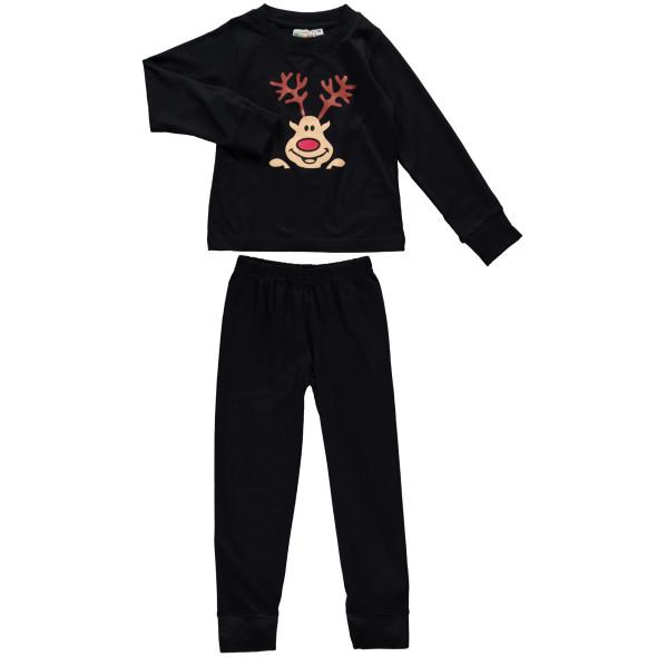 Jungen Pyjama Set mit Elchgesicht
