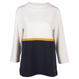 Damen Sweatshirt in Ripp-Optik