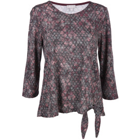 Damen Shirt im Ausbrennerlook mit Alloverprint