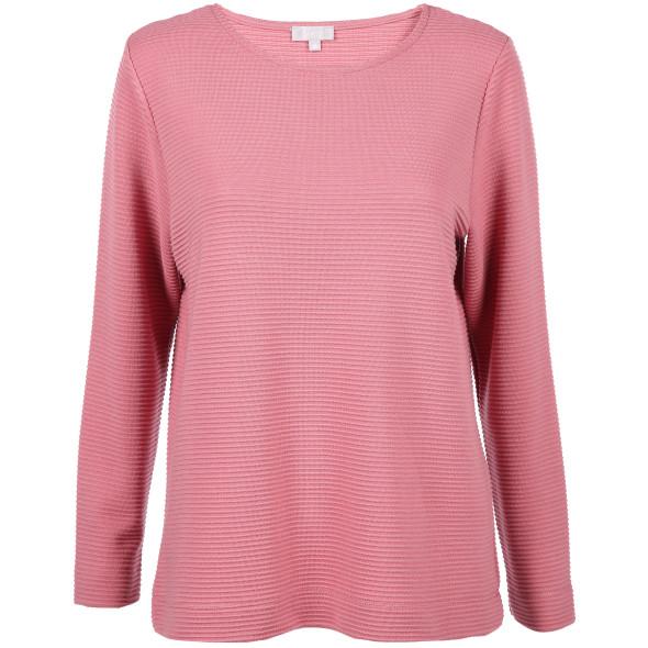 Damen Sweatshirt mit Ripp-Struktur