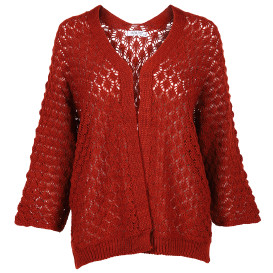 Damen Cardigan in Lochstickerei